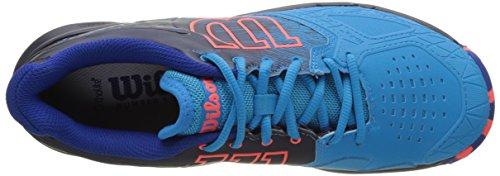 Wilson Kaos Comp Hawaiian O/Navy Blaze/Fie, Chaussures de Tennis Homme Bleu (Hawaiian Ocean / Navy Blazer / Fiery Co)