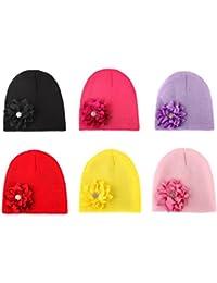 BrilliantDay Set di 6 pezzi Berretto bambini Soft Touch Cappello unisex per  neonati e bambini  9a3cd4f60ea7
