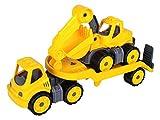 Big 800055805 Power-Worker Mini Transporter und Bagger, gelb