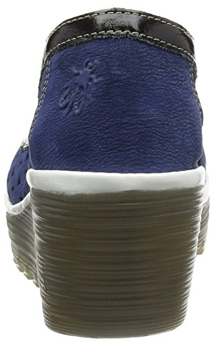 FLY London Yare597fly Damen Pumps Blue (Blue/Black/Off White)