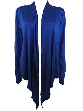 10 Farben Damen Bolero Jacke Gr. 44 46 48 50 52 54 (Blau)
