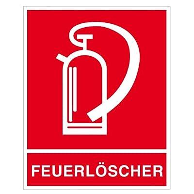 Feuerlöscher - Symbol mit Zusatztext Folie selbstklebend