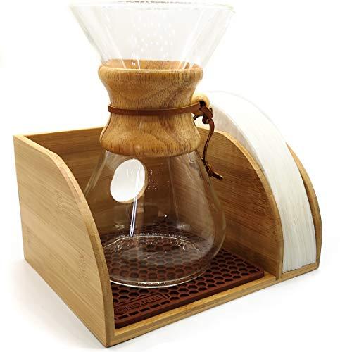 Hexnub - Soporte organizador de café para cafeteras con filtro Chemex, Bodum y Coffee Gator