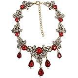 ZI LING SHOP- Ruby Adornos De Moda Europea Y Americana Retro Exagerado Collar De Cadena De Cadena Femenina Accesorios Cadena Necklace