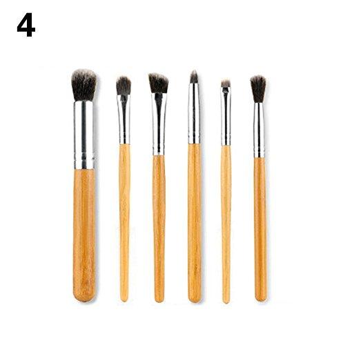 Dfly 11 pinceaux de maquillage Poignée en bambou Brosse de bambou Pole professionnel des Ensembles d'outils beauté Brosse Fard à paupières Brosse à lèvres Brosse Fond de teint Brosse Brosse de Maquillage