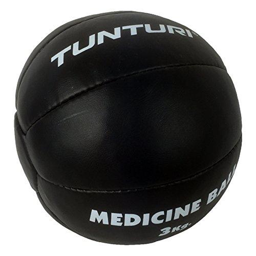 Tunturi-Fitness 14TUSBO103 Tunturi Balón medicinal cuero, 3 kg