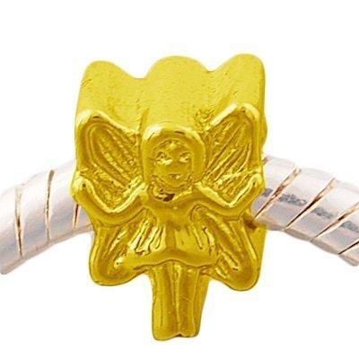 (Andante-Stones 14K Gold Bead Fee Element Kugel für European Beads Modul Armband + Organzasäckchen)