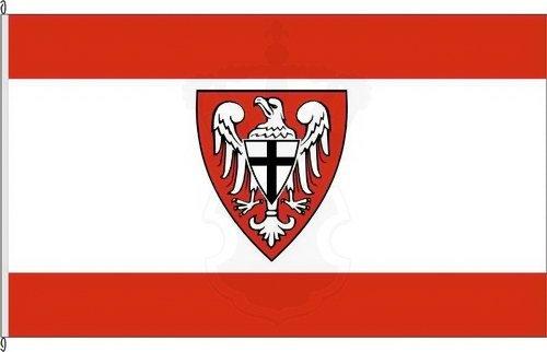 Fahne Flagge Wuppertal 20 x 30 cm Bootsflagge Premiumqualität