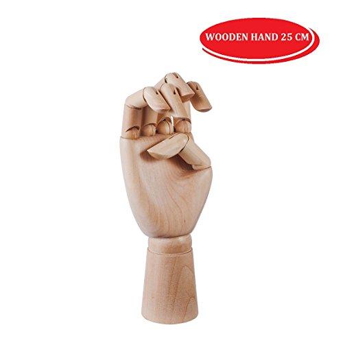 EMI Craft Modèle de Main Articulé en Bois Mannequin d'une Main, H 25cm