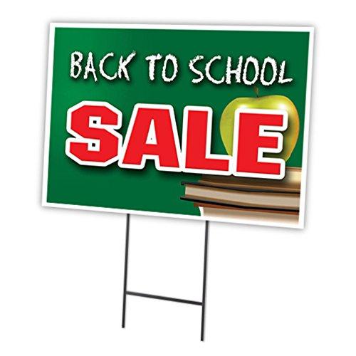 Back To School Verkauf 45,7x 61cm Yard Sign & dem Spiel Outdoor Kunststoff Fenster