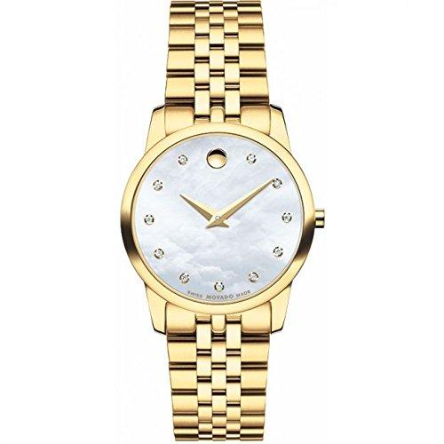Ladies Movado Museum Diamond Watch 0606998