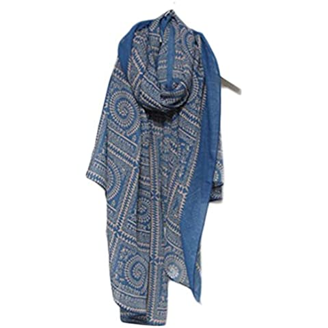 Toraway Las mujeres de la vendimia de la tela escocesa Impreso mantón caliente del invierno del abrigo de la bufanda suave