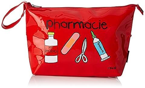 Incidence 60339 Trousse à médicaments Pharmacie Rouge Vinyle Fermeture zip Poignée de transport