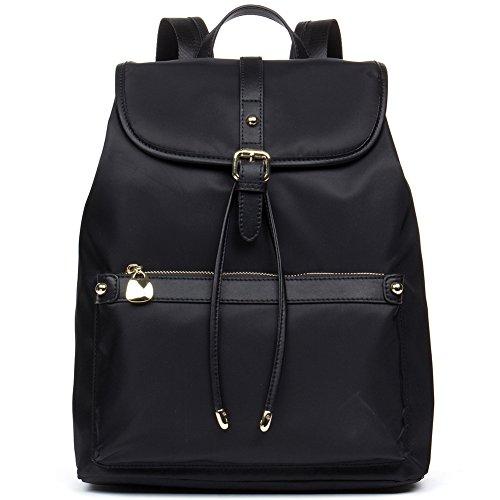stant Nylon Backpack Purse Rucksack Travel School Bag for Women Black ()
