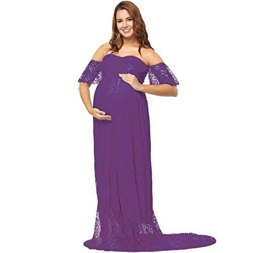 25fa8bd45 Embarazo Vestido Elegante para Damas Sesión Fotográfica Clásico Ropa ...