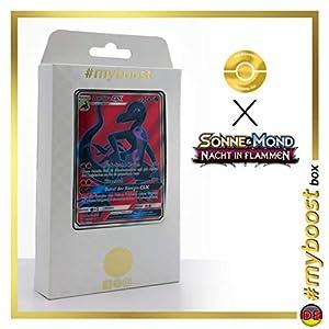 Amfira-GX (Salazzle-GX) 132/147 Full Art - #myboost X Sonne & Mond 3 Nacht in Flammen - Box de 10 Cartas Pokémon Aleman