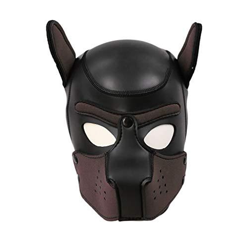 Im Rollenspiele Bett Kostüm - FORH Sexy Maske Kostüm Maske für Rollenspiel Sex Spielzeug Maske Erotic Headgear Training Dog Headgear Bondage Fetisch für Paar Bett Fesseln für Weihnachten (M, Kaffee)