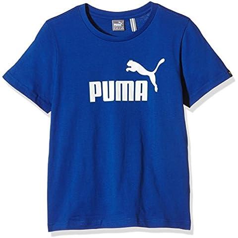 PUMA Ess Logo grande no muchachos camiseta, B, Color Azul azul Talla:11 años