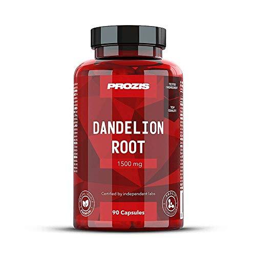 Prozis Dandelion Root 1500 mg 90 caps - Hilfe bei Verdauungsstörungen helfen, für gesunde Leber- und Nierenfunktion - Entzündungshemmende Eigenschaften -