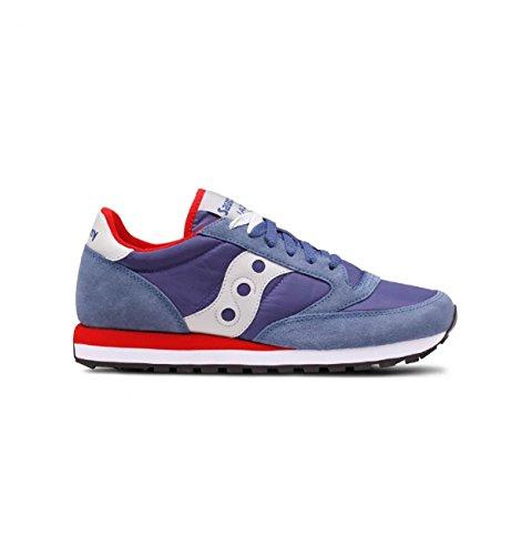 SAUCONY scarpe sneaker uomo JAZZ ORIGINAL S2044-446 bluette e rosso 46 eu - 11.5 us - 10.5 uk