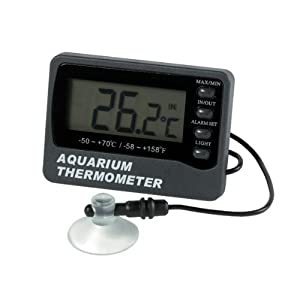 ETI Ltd Aquarium thermometer with max/min and temperature alarm – displays tank water and room temperature