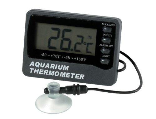 ETI Ltd Aquarium thermometer with max/min and temperature alarm – displays tank water and room temperature