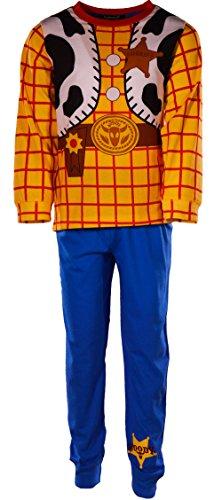 laylawson Jungen Toy Story Woody Neuheit 100% Baumwolle Lange Ärmel Pyjamas PJ Nachtwäsche[5-6 Jahre][Gelb] (Toy Story-pyjama Für Jungen)