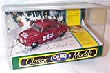 corgi classic deep red 283 hard top SAAB 96 car 1:43 scale diecast model