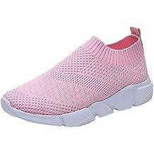 Zapatillas para Mujer Zapatos de Plataforma Sneakers Color Sólido para Mujer Zapatos de Senderismo Calzado Deportivo