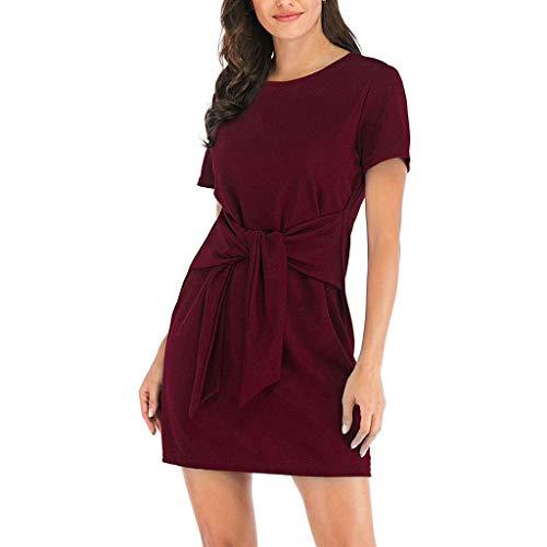 (Damen Kleider, GJKK Damen Elegant Solid Schulterfreies Langärmelig Mini Kleid Elastische Abendgesellschaft Minikleid Frauen Abendkleid Partykleid)