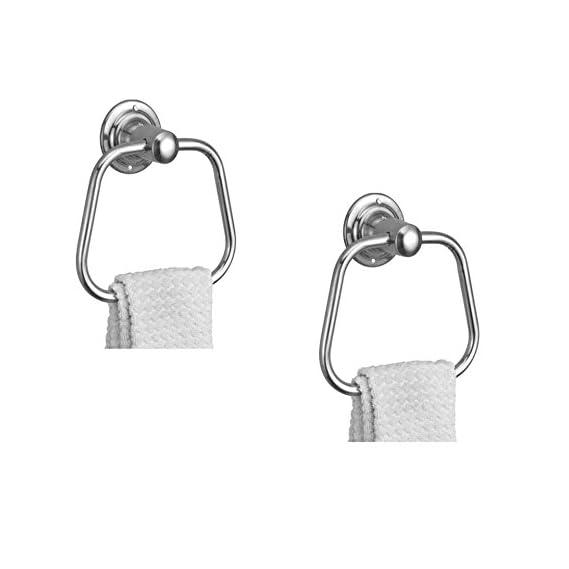 Kamal Stainless Steel Towel Ring Triangular (Set of 2)