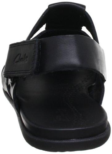 Clarks Valor Sky, Sandales homme Noir (Black Leather)