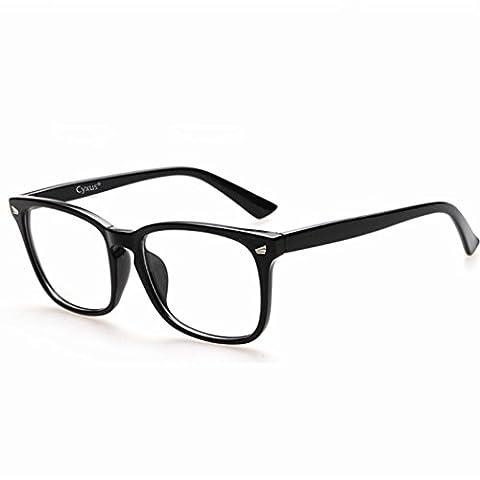 Cyxus Blue Light Filtre UV Bloc [Lentille Transparent] Lunettes Ordinateur, Anti Glare Fatigue Blocage Strain Céphalées Eye, lecture Lunettes