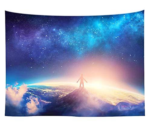 Tapices Tapiz Colgante De Pared Estrellado Cósmico Hermoso Colgar La Tela Cortinas Toalla De Playa,150X229 CM