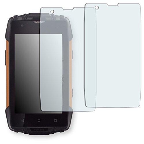 GOLEBO myPhone Hammer Iron 2 Displayschutzfolie - 2X Schutzfolie Folie No Reflexion|Keine Reflektion MATT für myPhone Hammer Iron 2