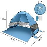 FITFIRST Tenda da Campeggio Resistente all'acqua 2-3 Persone con Borsa come Zaino Apertura Istantanea Pop-up per Pensilina Ideale per Campeggio Familiare, Escursionismo, Uso Esterno (Blu)