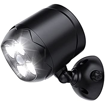 Leshp 600 lumen outdoor led security lights battery powered motion spotlight with motion sensor 600 lumen 4 leds wireless security wall light with ip65 water resistant battery powered for outdoor indoor use by aglaia aloadofball Image collections