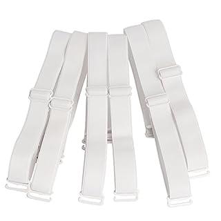 Closecret Lingeries Zubehör Damen Elastisch Verstellbar Abnehmbarer Ersatz-BH Schultergurte 12mm & 15mm Breite Band (3er Pack) (15mm, Weiß)