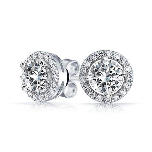 Bridal & Wedding Party Jewelry The Cheapest Price Sterling Silver 925 Plate White Gold Elegant Classic Anniversary Dangel Earrings Making Things Convenient For Customers