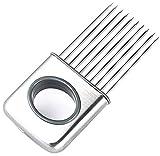 Edelstahl Zwiebelhalter Schneider Gemüse Gadget Tomatenschneider Küchenwerkzeug