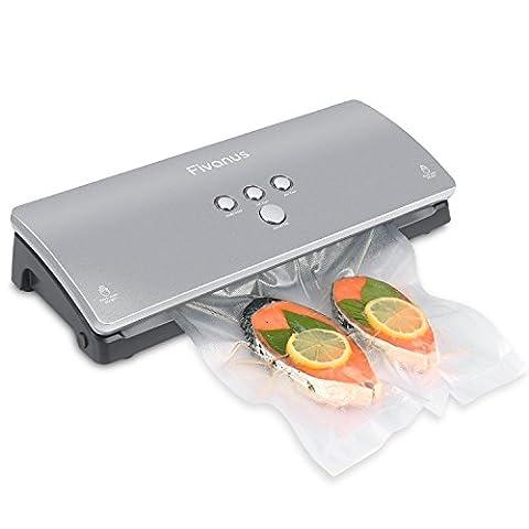 Appareils de Mise Sous Vide, Fivanus DS100 Machine Sous Vide Elégant et Compact Emballeuse sous vide inclus 10 Pcs sacs sous vide Système d'emballage alimentaire sous vide