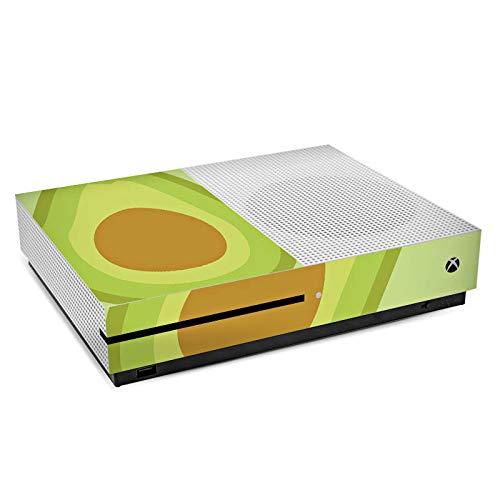 Microsoft XBox One S Folie Skin Sticker aus Vinyl-Folie Aufkleber Avocado Frucht Vegan
