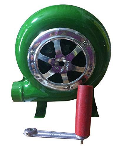 SY-Heat 80 Watt Kohle Feuerzeug Fan, Top Manuelle Schmiedeeisen Gebläse Handkurbel Fan Grill BBQ Feuerzeuge
