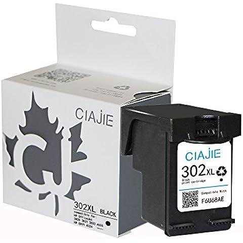 ciajie rigenerate HP 302X L F6U68AE cartuccia d' inchiostro Show livello d' inchiostro nero 1*Black