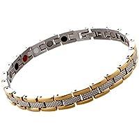 LUOEM Frauen Magnetic Bracelet Edelstahl Schmuck (Silber + Golden) preisvergleich bei billige-tabletten.eu