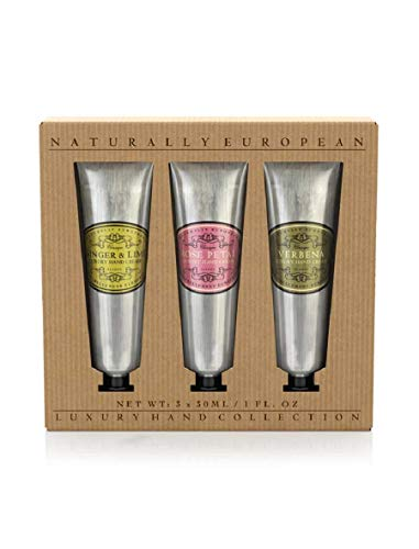 Naturally European Luxury Rose, Verbena, Ginger & Lime Moisturising Hand Cream Gift Set 3 X 30ml - Lemon Verbena Liquid
