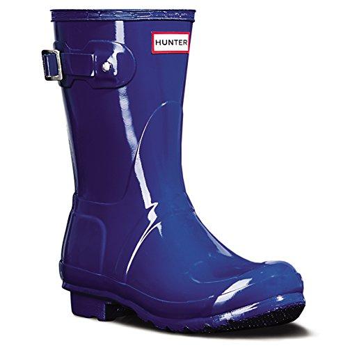 Damen Hunter Original Short Gloss Schnee Gummi Gummistiefel Wasserdicht - Azurblau - 39 (Hunter Stiefel Frauen Kurze Blau)