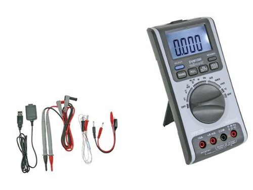 Panel meters & Multimeters 410167 Digital-Multimeter mit Usb-Schnittstelle, DVM1200, 85 mm x 180 mm x 45 mm Maße