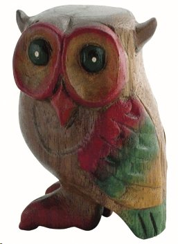 BRILLIANT LITTLE HOOTING OWL WOODEN WHISTLE INSTRUMENT