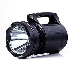 Alflash – Torcia tascabile da esterno super luminosa, ricaricabile, 10000 lumen, 15000 mAh, impermeabile, potente